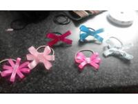 Bow hair bands and clips