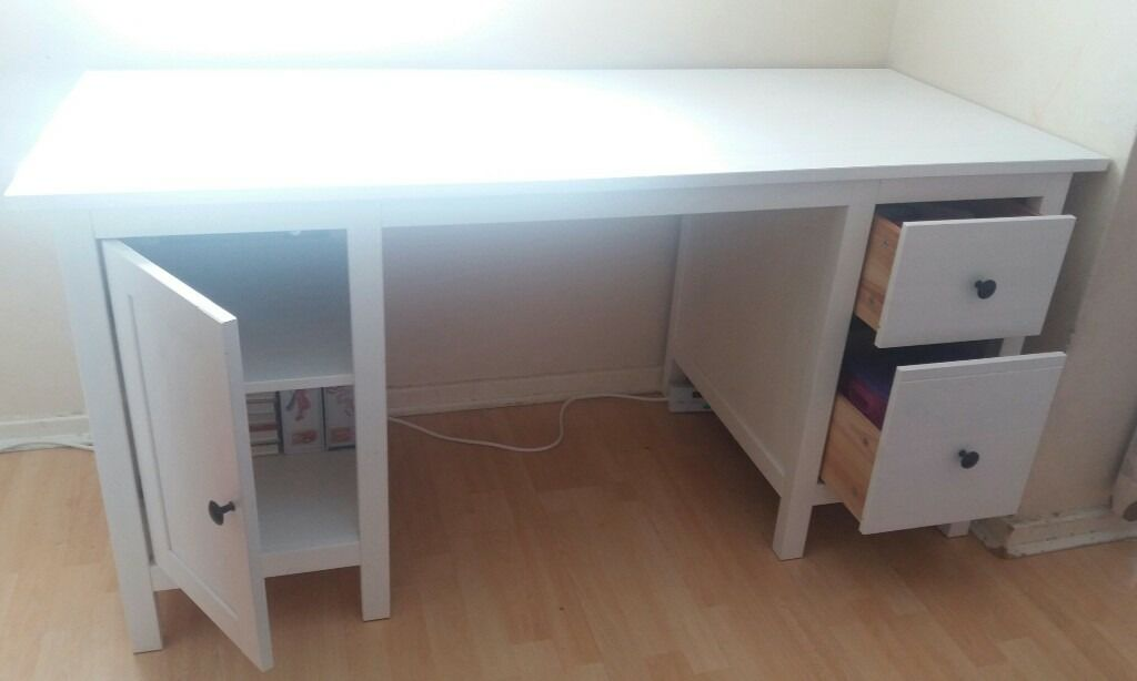 White Ikea Hemnes Desk