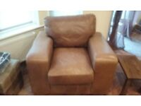 Indigo Leather Chair