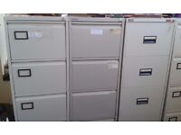 Office Filing Cabinets And Two Desk Units