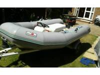3.1 rib boat with 15 hp outboard engine