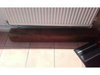 Railway sleeper beam for fireplace or shelf