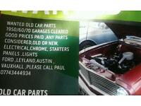 Wanted old car parts 1950/1960/1970 anything considered