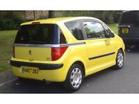 PEUGEOT 1007 YELLOW 1,4 HDI TURBO DIESEL FULL 12 MONTHS MOT DRIVES MINT P/X WELCOME