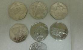 London 2012 Olympics commenrative 50p coins