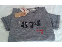 grey t shirt, small mens, new with tags