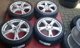 NEW TYRES ON 19 GENUINE STAGGERED MERCEDES S CLASS W221 W222 ALLOY WHEELS E W212 C ETC VITO