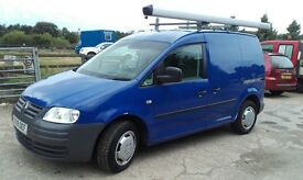 volkswagen caddy 1,9 hdi (09) swb low Miles twin side LOADING DOORS