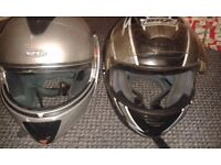 2 crash helmets