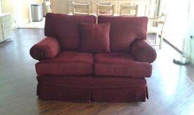 Multiyork Teddington 2 seater Sofa and 1 Armchair both Burgundy with Gold Detail