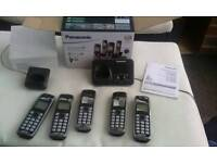 Panasonic 5 handset DECT answerphone system KX-TG6624