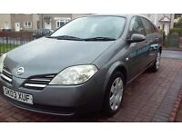 2003 Nissan Primera 1.8s 5dr hatchback FULL years MOT