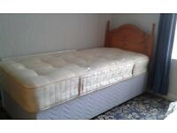Single Divan Bed, and Headboard.