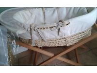 FENWICKS MOSES BASKET AND STAND