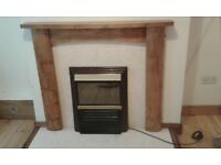 WOODEN FIREPLACE SURROUND ONLY£35