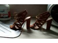 Lipsy high sandals size 5