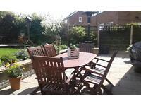 Wooden garden patio set