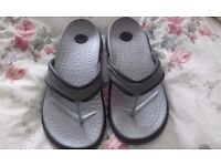 like new pair of size 5 ladies crocs