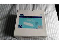 Newlec NL202 fan heater 2kw/white/new in box, cool blow as well, 2 heat settings, frost guard,
