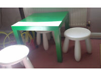 Kids table and 3 stools
