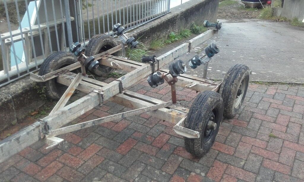 twin axle galvanised boat trailer project px swap