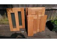Kitchen solid oak doors & draw fronts.
