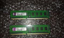 2x Kingston 1Gb DDR3 Desktop Memory RAM (2GB)