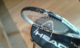 Tennis racquet plus original cover to sell £35 pounds..