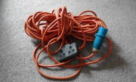 carvan camping power hook up cable
