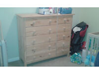 Scandinavia 5+5 Drawer Chest - Pine, for sale
