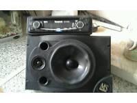 Speaker and car radio