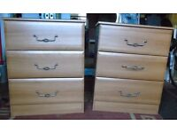 2 x Chest of Three Drawers. Good quality. Immaculate (£25 each)