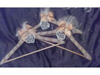 Personalised hangers for wedding/bridesmaid flower girl suits ect
