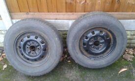 Car tyres x 2