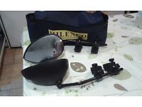 Caravan towing mirrors as new. Comes with carry bag.