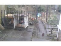 A Pair of Wrought Iron Gates In Excellent Condition
