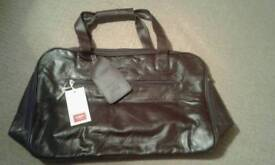 Cotton Traders Leather Holdall