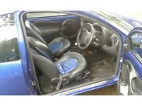 Ford ka sport metallic blue 1.6 petrol engine 5 speed gearbox central locking cd player drives well