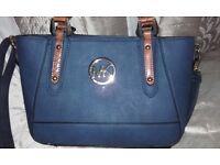Navy MK design handbag