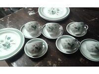 Rare Handpainted Made in England tea set and plates.