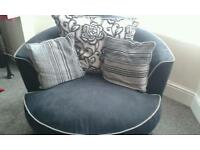 Large 2 seater and swivel chair