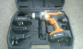 Worx 18v Cordless hammer drill WX368.3 in excellent condition but needs new charger