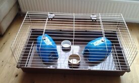 Large rabbit or guinea pig cage and accessories for sale - excellent condition - ideal starter kit