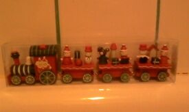 Decorative christmas Wooden train.