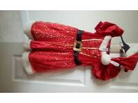 Mrs Santa Outfit - Childs Size 5-6 years