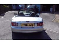 MX5 1.8 Sports 6 speed. Low mileage 63,778. Lovely car.