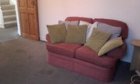 Fabric Sofa With Cushions