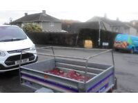 Small Franc trailer ideal for fishing, camping or light haulage locks and covers included