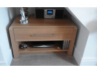 Hygena Oak veneer TV stand