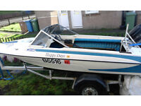19ft Glastron speedboat ,Mercury 90hp outboard and traler